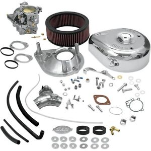 S&S Super E Carb Carburetor Complete Kit EVO Evolution Big Twin Harley 11-0407