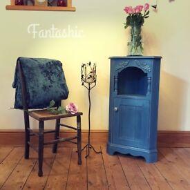 Corner Cupboard - Solid Pine - Shabby Chic