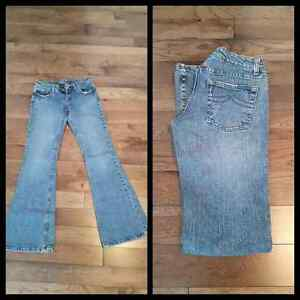 2 Pairs of Jeans and 1 Jean Skirt for Sale