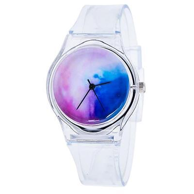 Transparent Cartoon Silicone Watches Girls Kids Sport Casual Quartz Wristwatches