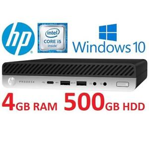 NEW HP PRODESK 600 G3 MINI DESKTOP 1JX24UP#ABA 213597155 I5 6500T 2.5GHZ 4GB RAM 500GB HDD WINDOES 10 PC COMPUTER