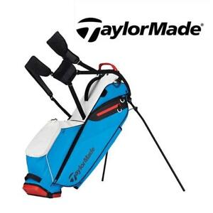 NEW TAYLORMADE GOLF STAND BAG N6418101 187727546 FLEXTECH LITE WHITE/BLUE/RED