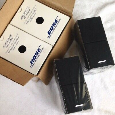 2 Bose New in Box Double Cube Speakers Black DoubleShot Acoustimass Lifestyle