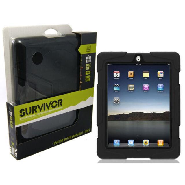Griffin Survivor Tough Rugged Case For iPad 2, iPad 3 & iPad 4 - Black BRAND NEW