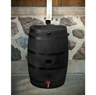 Rain Barrel Water Storage 50 Gal Collection Catcher Flat Back Screen Spigot Eco