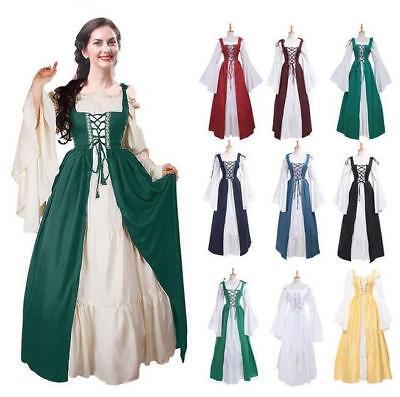 Frauen Vintage Mittelalter Renaissance Kleid Gothic Cosplay Kostüme -
