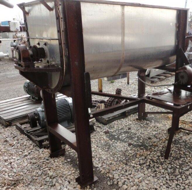 36 Cu Ft Stainless Steel Food Grade Ribbon Powder Blender