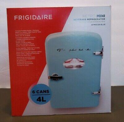 Mint Frigidaire EFMIS129 Blue Retro Mini Compact Refrigerator Soda Fridge Travel