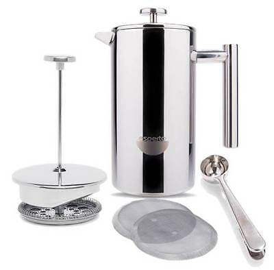 Es Perto Stainless Steel French Press Coffee Maker - 8 cup, 32 oz