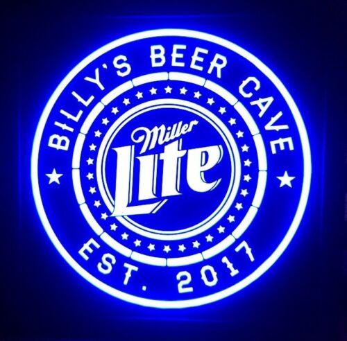 Miller Lite Beer LED Sign Personalized, Home bar pub Sign, Lighted Sign