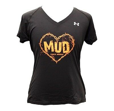 Under Armour Heat Gear Tough Mudder Gym Exercise V Neck T Sh