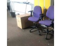 Purple Adjustable Computer Chair with Arms