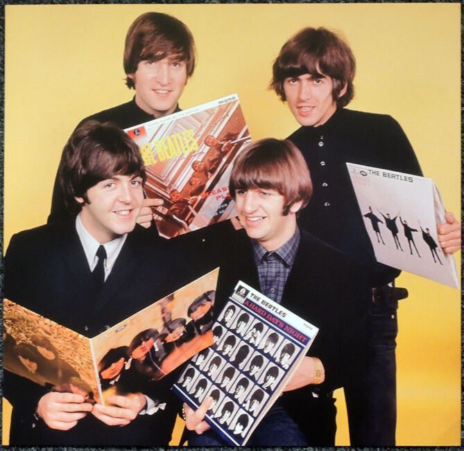THE BEATLES POSTER PAGE 1965 GROUP PORTRAIT JOHN LENNON GEORGE