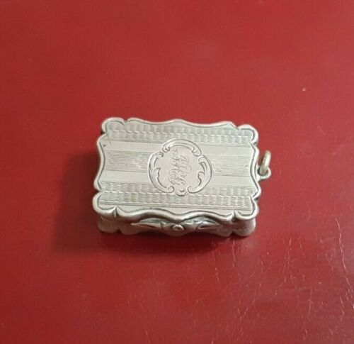 Victorian Sterling Silver & Gilt Vinaigrette 1854 David Pettifer Birmingham