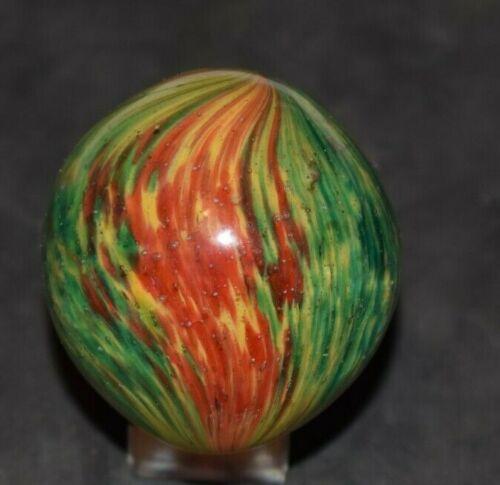 Antique German Onionskin Handmade Tear Drop Marble Size 1.800 x 1.700 Mint!