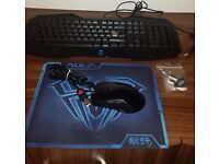 Backlit AULA Advanced Gaming Multimedia USB Mechanical Keyboard + Mouse and Pro mousemat