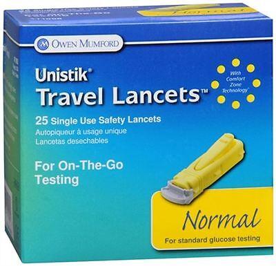 Unistik 3 Normal Safety Lancets 25 Each