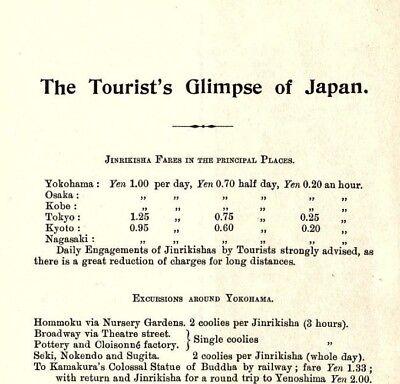 1901 S. Utaki - Brochure The Tourist's Glimpse of Japan, Prices Railroad Info &B