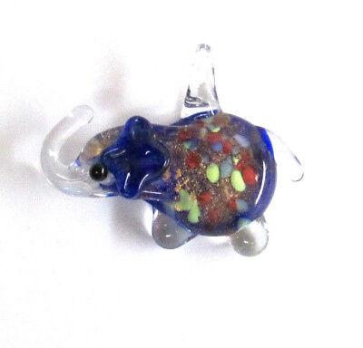 Small Lampwork Elephant Necklace Pendant Bead Acrylic or Glass Bohemian (Glass Small Pendant Jewelry)