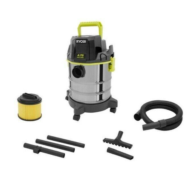 RYOBI ONE+ 18V Wet/Dry Vacuum Cordless 4.75 Gallon Shop Vac PWV200B