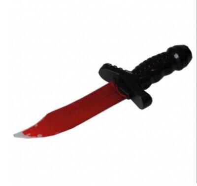 IAL 6225525 Spielzeug Blutiges Messer mit Kunstblut gefüllt 25cm Halloween Fake Halloween Messer
