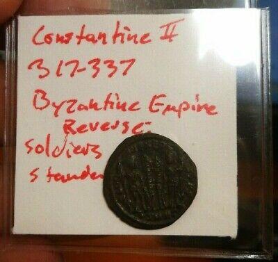Byzantine Empire (East Roman) Constantius II Yr. 337-361 AD (Cool !)