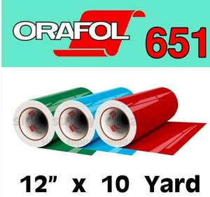 "Oracal 651 Intermediate Permanent Vinyl 12"" x 10 yard"