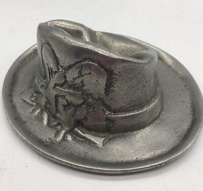 Vintage German Aluminum Smoking Pipe Holder Hat Design Unusual Piece MUST SEE