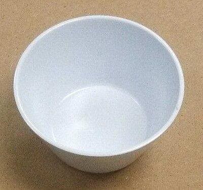 (1 Dozen) 8 ounce Bouillon Cup Bowl Medium Weight Melamine White Tan Soup Salsa