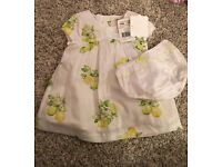 BNWT Mayoral Dress and Knickers - 3/6 months - RRP £28