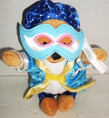 "Disney CARNIVAL POOH Mardi Gras 8"" Bean Bag Stuffed Animal Toy Winnie the Pooh"
