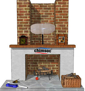 Chimsoc - Small Rectangle - Balloon For Chimney Up To 38cm x 23cm (15