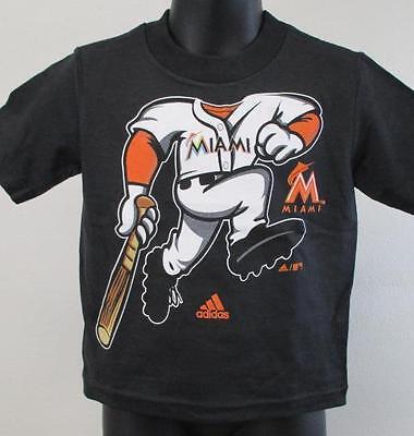 Neu Miami Marlins Kleinkind Größe 2T-3T Majestic Baseball Spieler Hemd