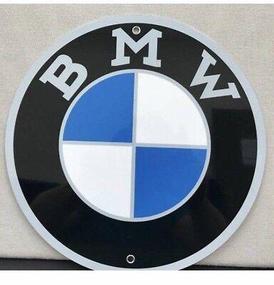 Bmw 70's Logo Metal Garage Sign Reproduction