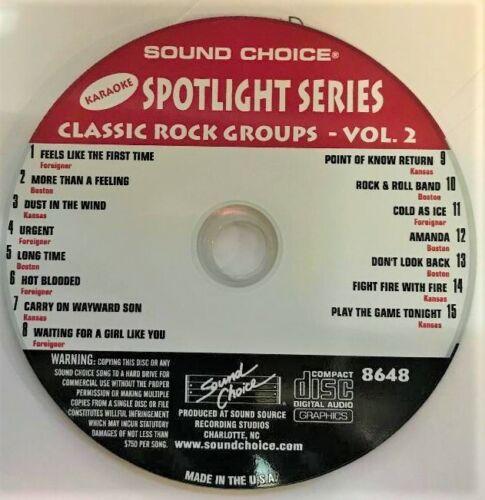 SOUND CHOICE KARAOKE SPOTLIGHT SERIES CD+G - 8648- CLASSIC ROCK - VOL. 2 - CDG