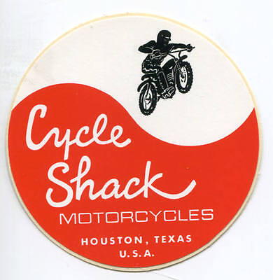 Cycle Shack Motorcycle Shop Houston Texas Decal Sticker 3 Inch New