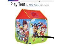 Paw patrol play tent