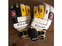 Hunts County mettle batting gloves.