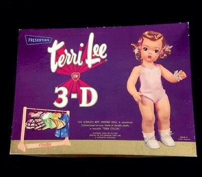Vintage 1950s Terri Lee Molded Plastic 3-D Paper Doll Set Original Box Rare