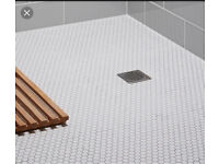 White Hexagonal Mosaic Tiles + Grout 3sqm job lot