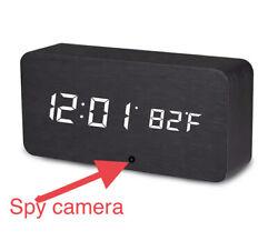 Spy Camera WiFi Hidden Wireless Digital Wooden Desk Watch Security Cam HD 1080P