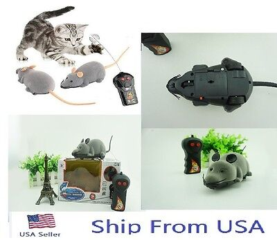 Remote Control RC Rat Mouse Wireless For Cat Dog Pet Toy Novelty Gift Funny#c