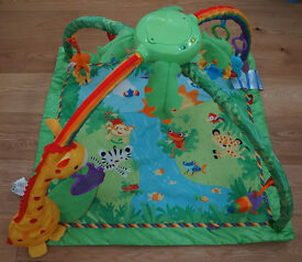 Fisher-price safari melody and light baby play mat