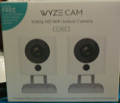2-PK WyzeCam HD Wi-Fi Indoor Smart Home Camera Night Vision 2-Way Mic WYZEC2CMC