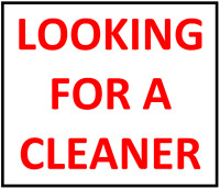 Looking for a cleaner on a regular basis in Mississauga center