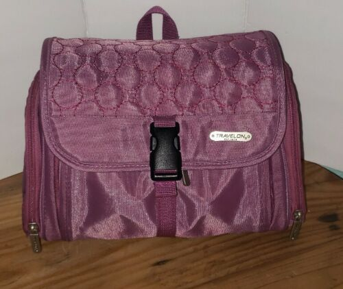 Travelon Hanging Toiletry Bag Kit Travel Carry On Organizer Tote Cosmetic Pink - $8.00
