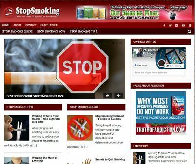 Stop Smoking Wp Blog - Established Profitable Turnkey Wordpress Website For Sale