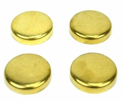 4 Brass Freeze Plugs Dish Style For A Perkins 3.152 Motor Bw2112-ke