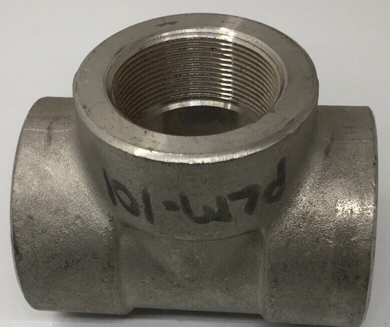 T852 US METALS 2-INCH THREADED 316 STAINLESS STEEL T BODY