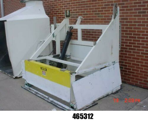 """Reeves Hydraulic Tote/Bin Dumper for up to 53"""" x 48"""" x 59""""H Bins."""